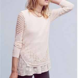 Anthropologie Sunday in Brooklyn Fiona Layered Top